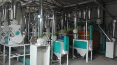 内蒙集宁30吨小麦面粉加工设备、莜麦加工设备投入生产
