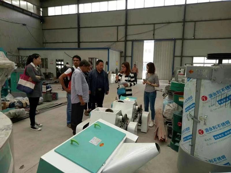 加拿大客户参观订购杂粮加工设备