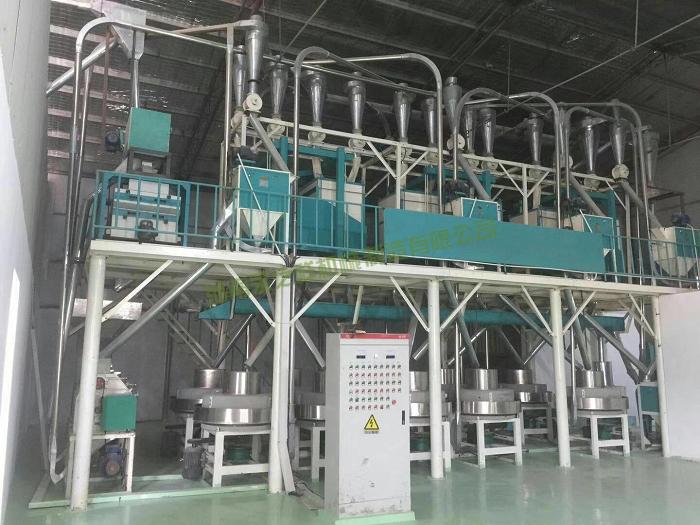 日加工20吨石磨制粉设备