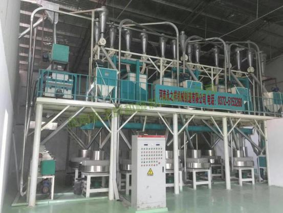 内蒙巴彦淖尔日加工20吨石磨面粉机