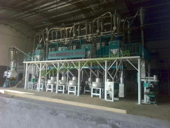 湖北襄阳日加工20吨石磨面粉机