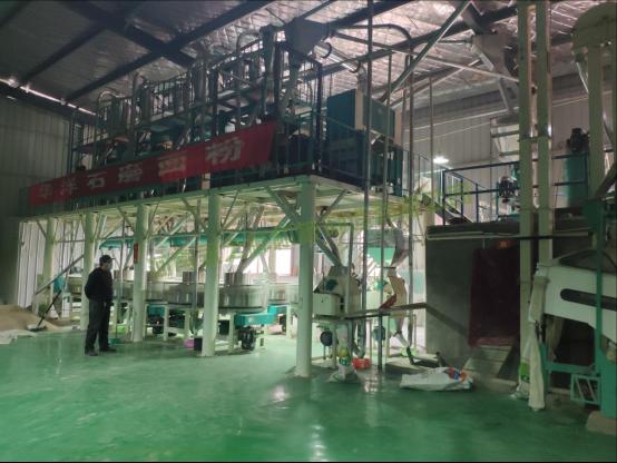 河南商丘日加工20吨石磨面粉机
