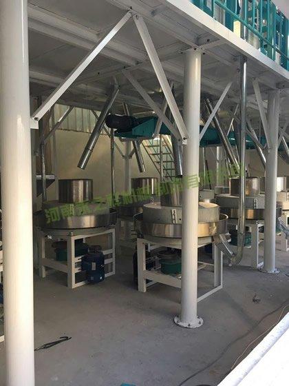湖北恩施石磨面粉机安装完成